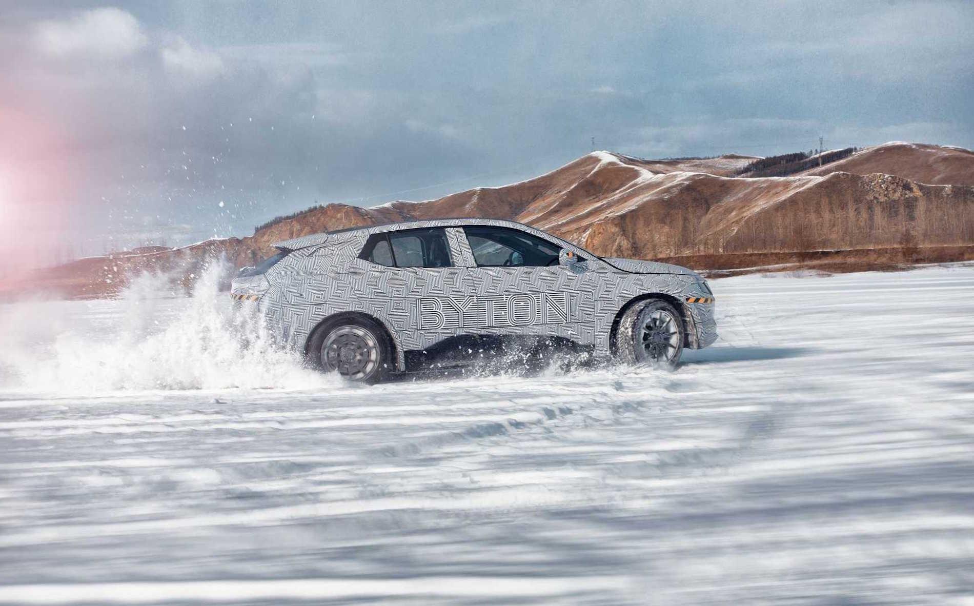 Byton Tests Snow