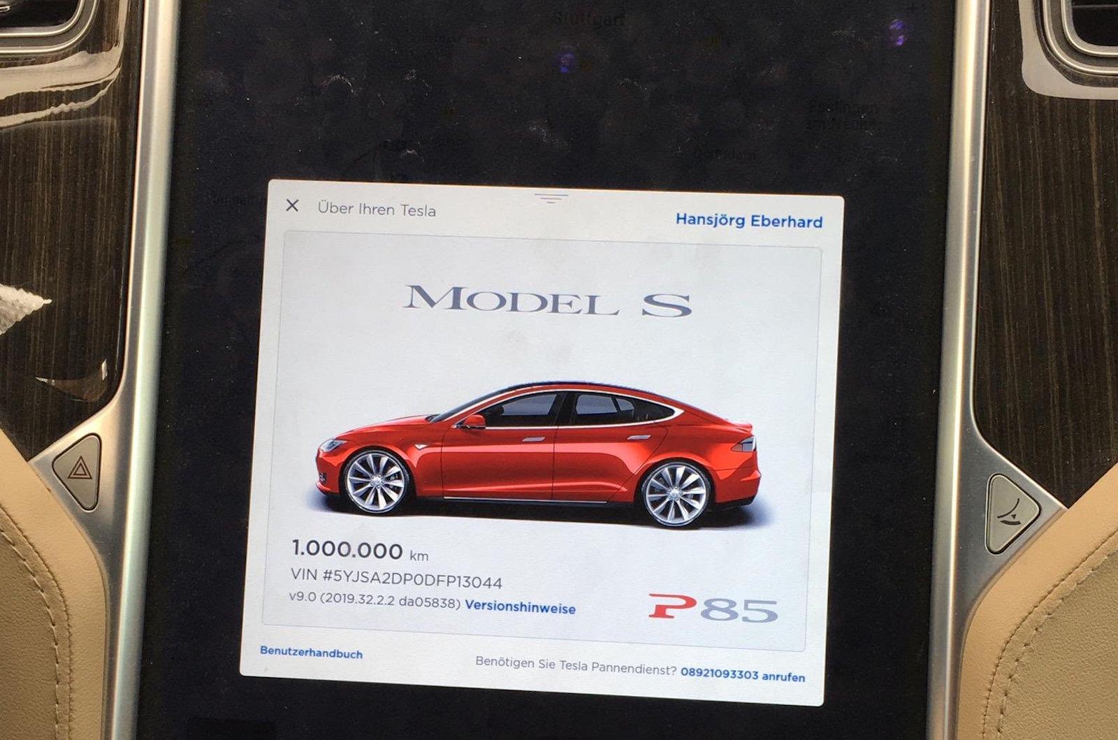 Tesla Model S Millon Kilometros