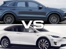 2012 Porsche Cayenne Turbo vs 2019 Tesla Model X 100D Drag