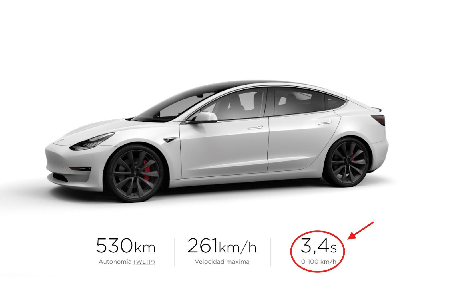 Tesla Model 3 segundos
