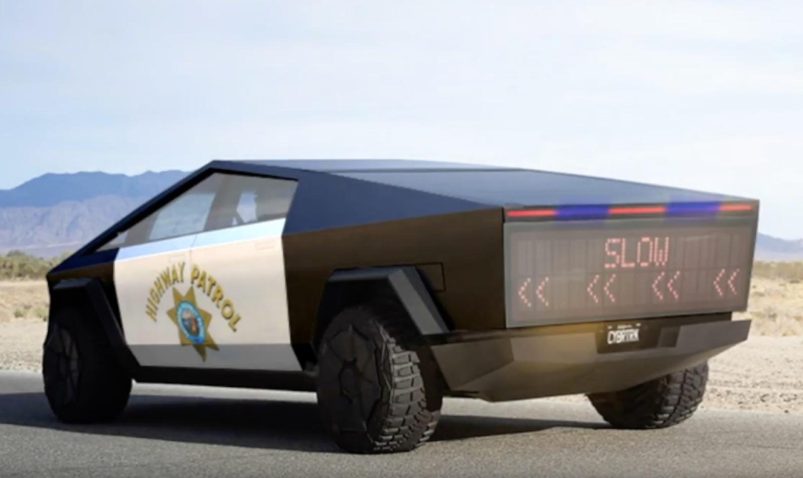 Tesla Cybertruck Highway Patrol
