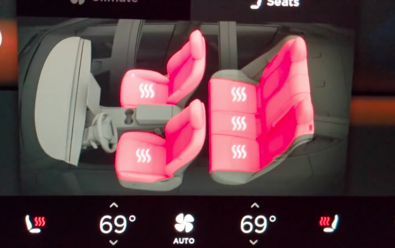 Tesla Model 3 Heated Seats