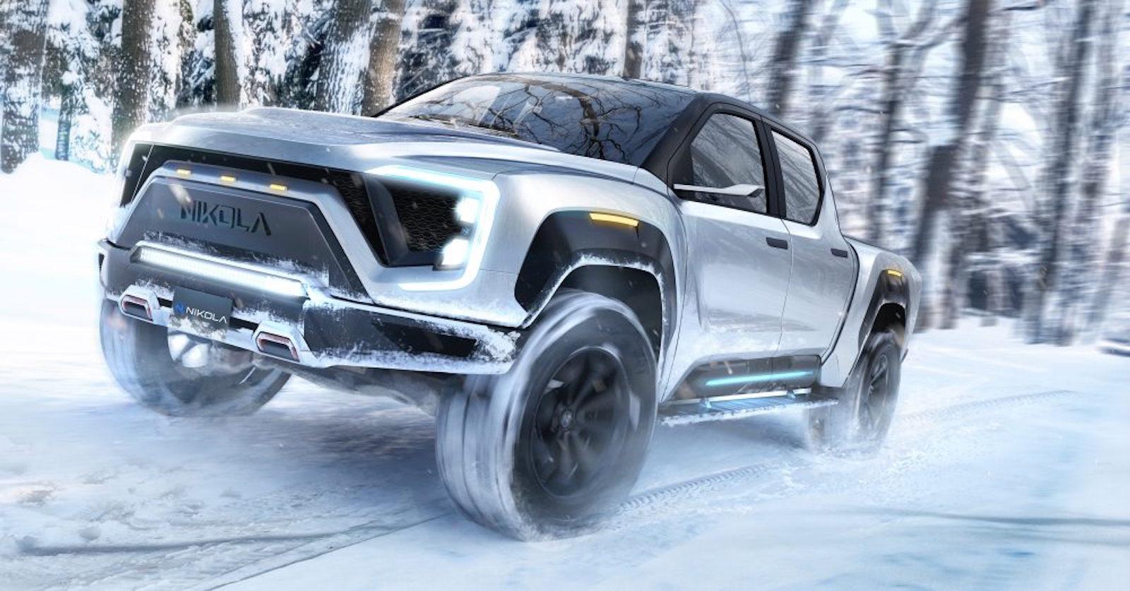 Nikola Motor Pickup Snow