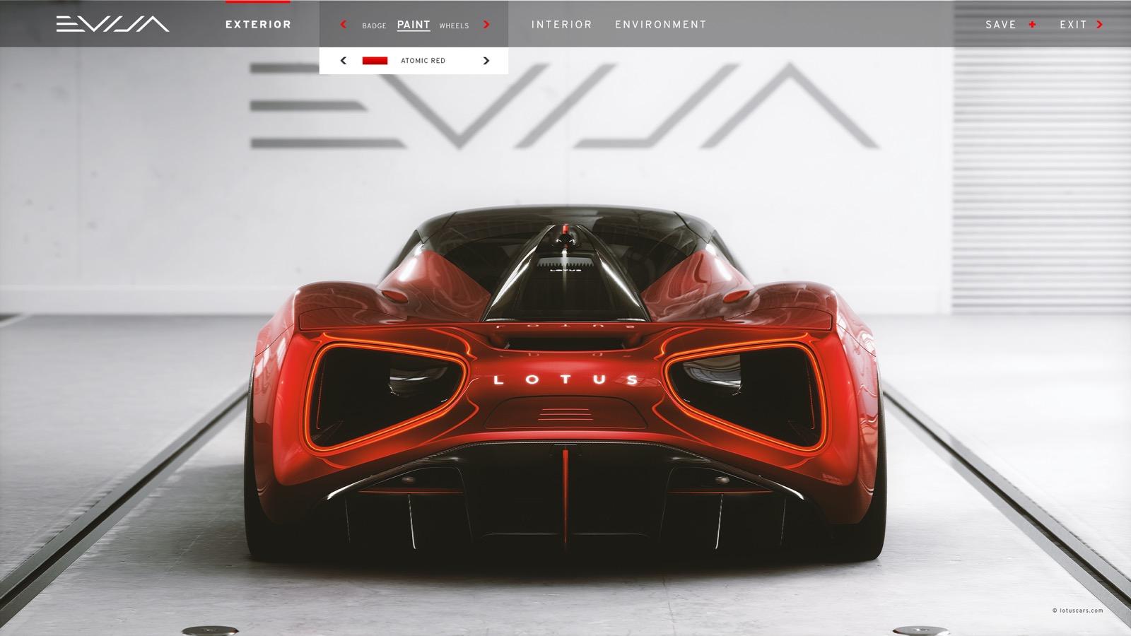 Evija Configurator 3
