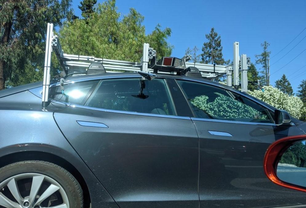 Tesla Spotted With Sensor Rig 2