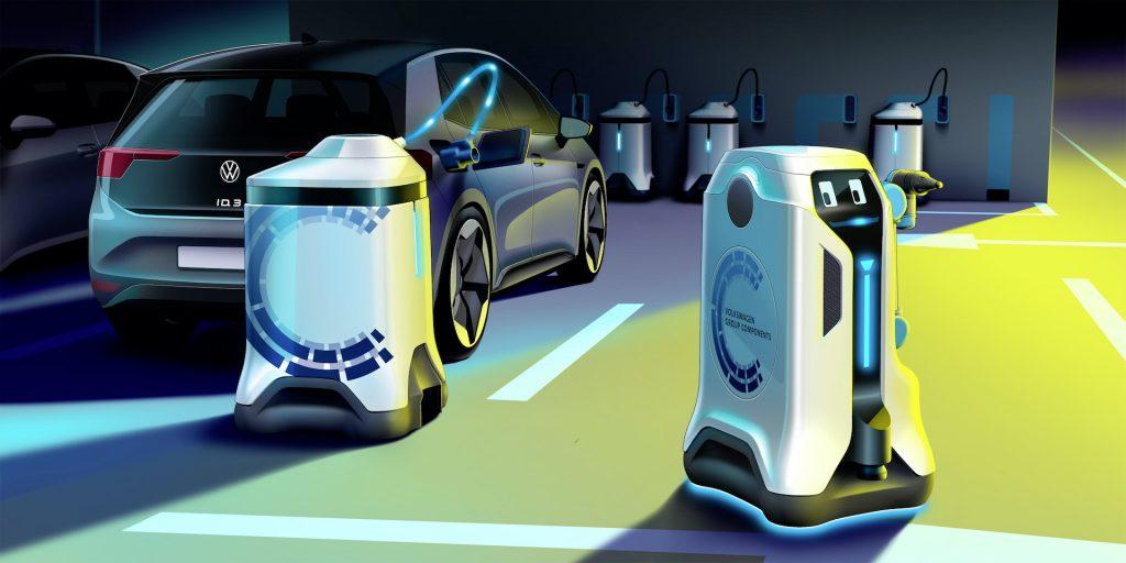 robots carga coche eléctrico