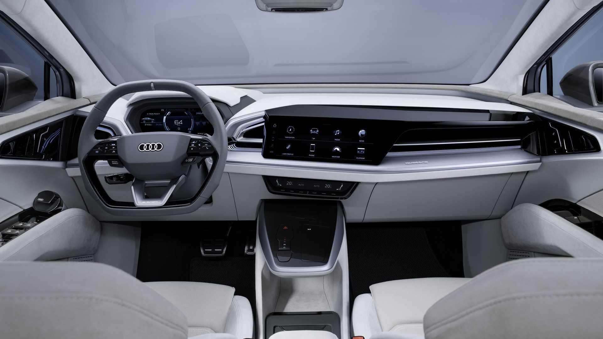 Audi Q4 Sportback E Tron Concept Interior