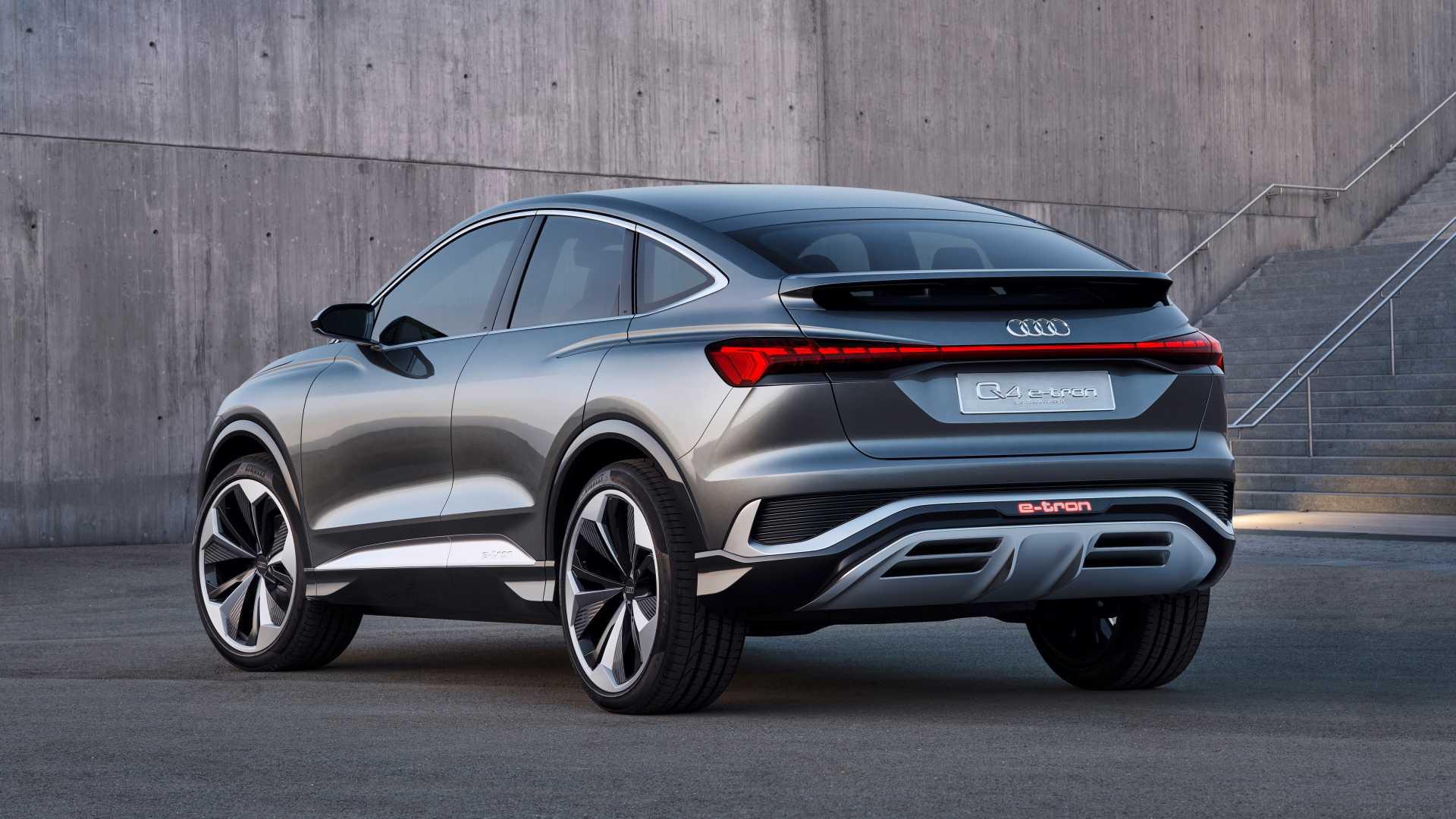 Audi Q4 Sportback E Tron Concept Back