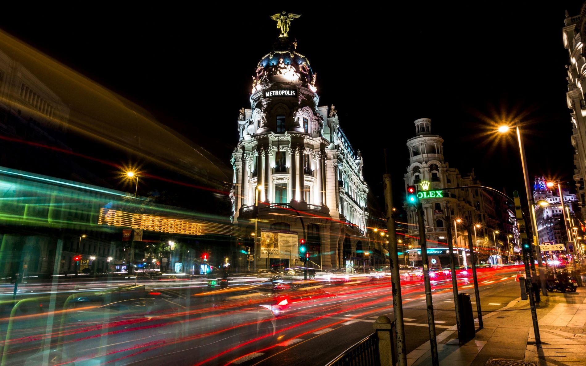 Madrid Callao Night