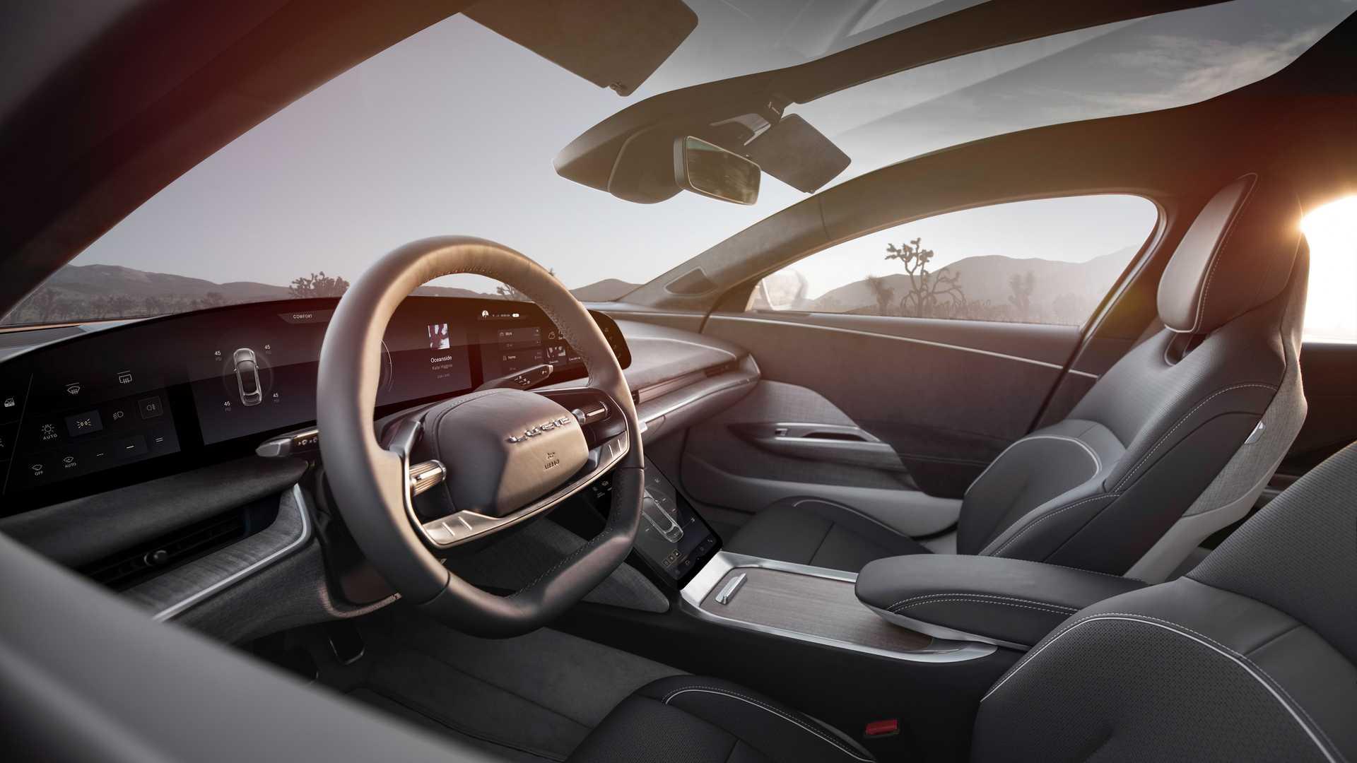 Lucid Air Dream Edition Driving Wheel