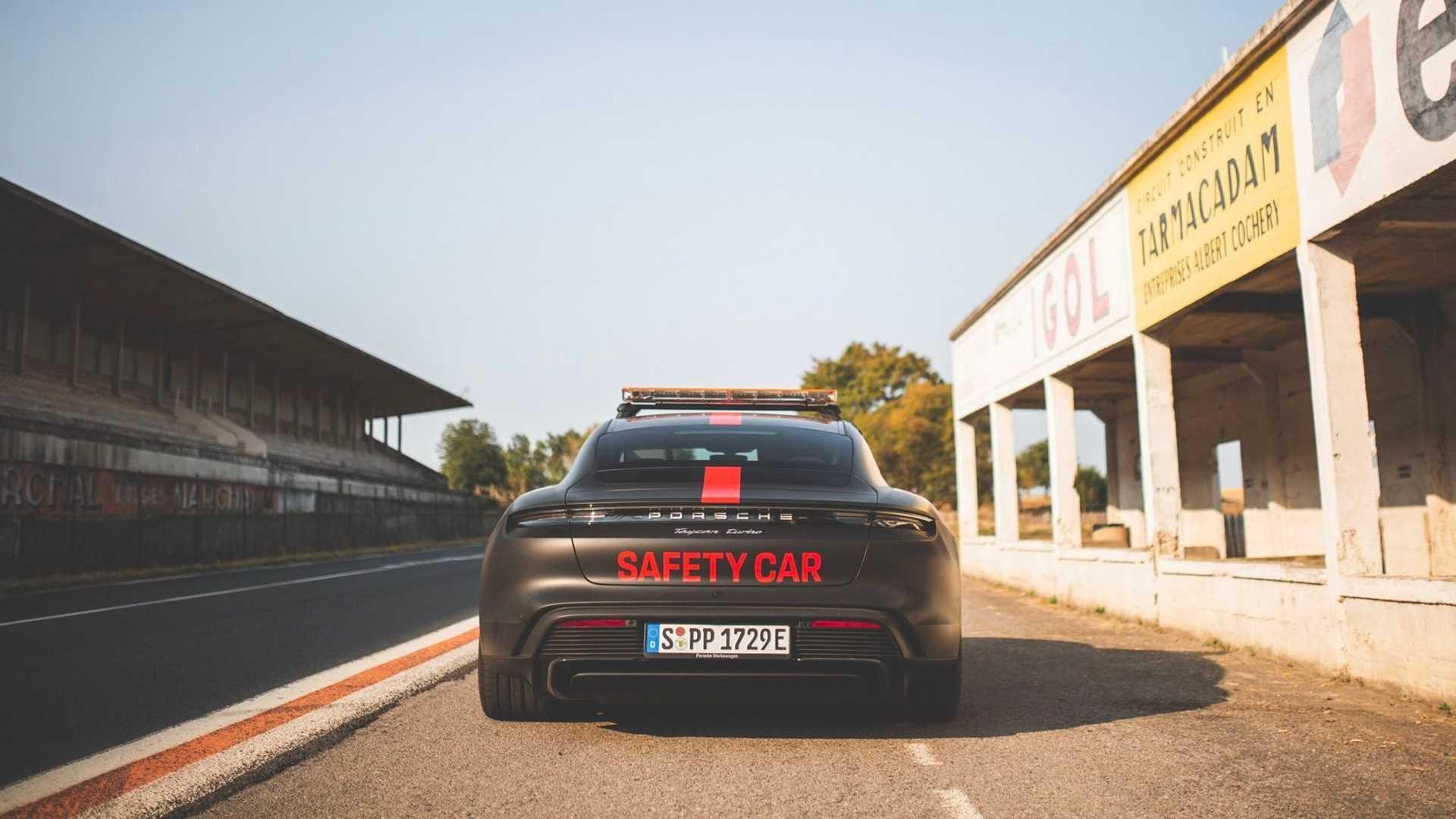 Porsche Taycan Safety Car Back