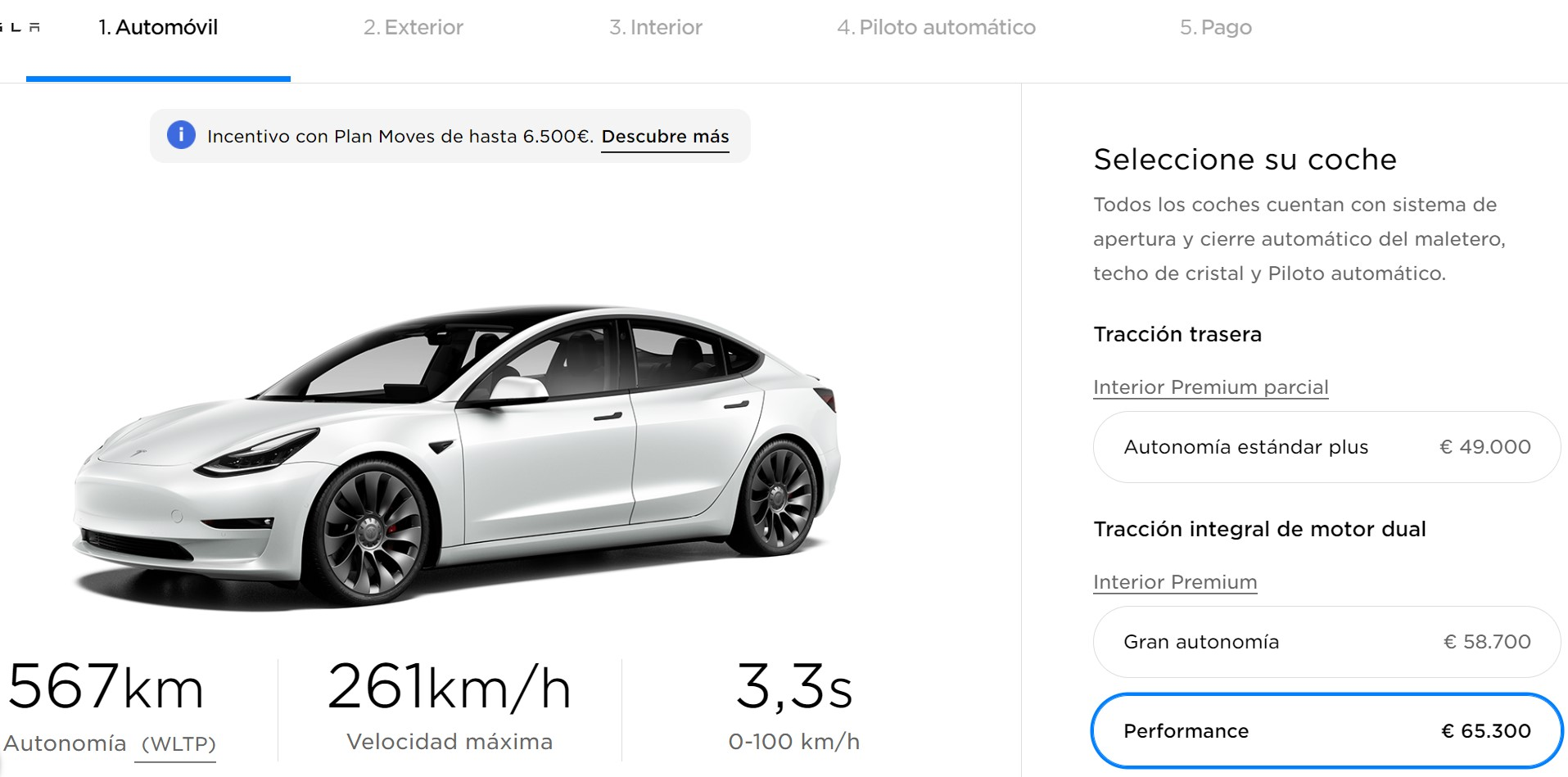 Tesla Model 3 2021 Config