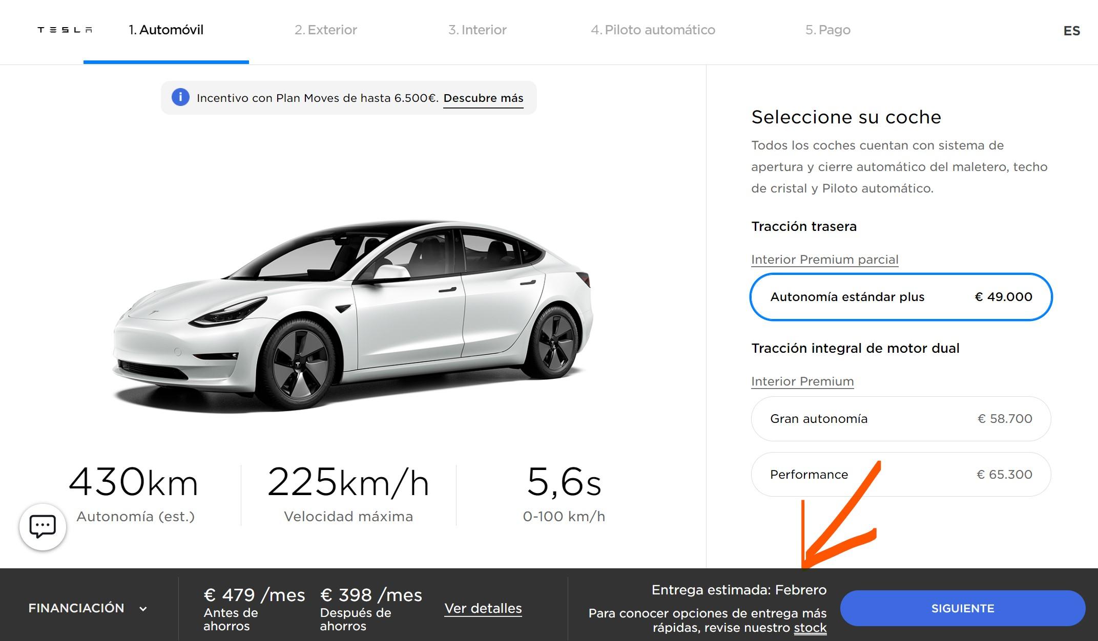 Tesla Model 3 Sr 2021 Febrero