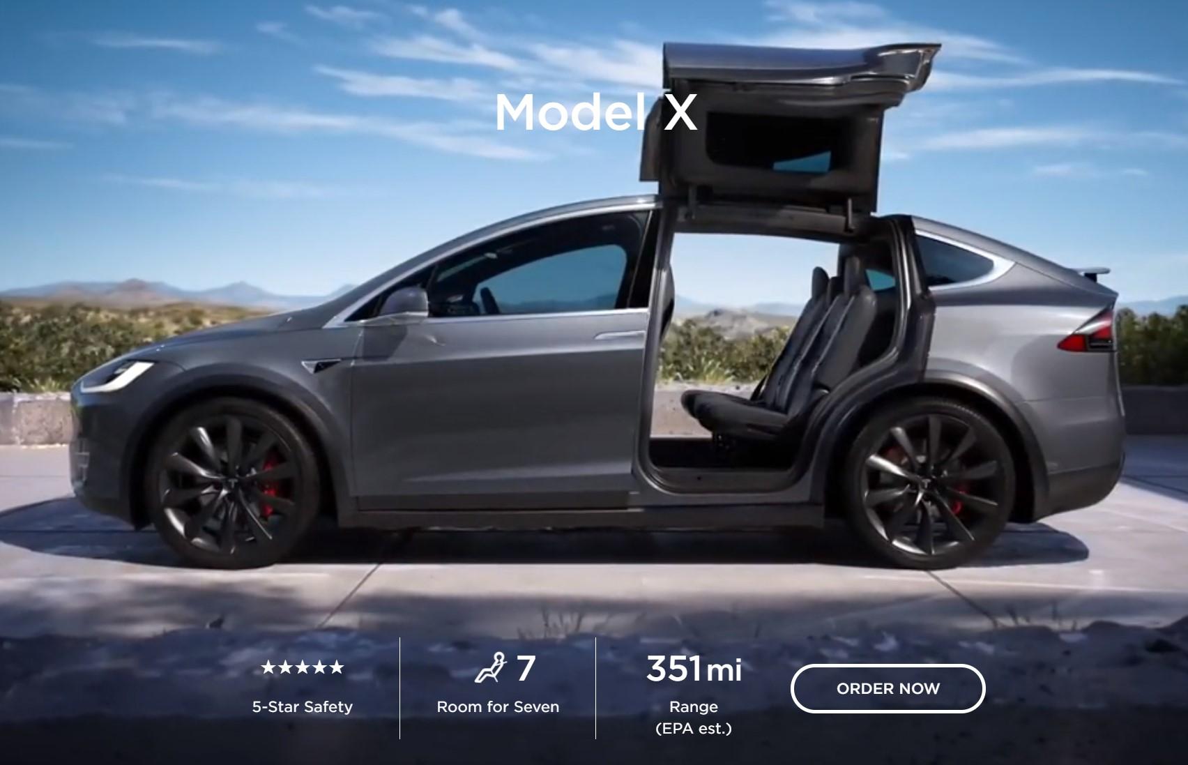 Tesla Model X Range 351