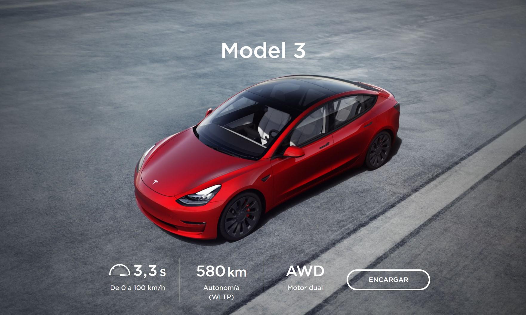 Tesla Model 3 2021 Specs