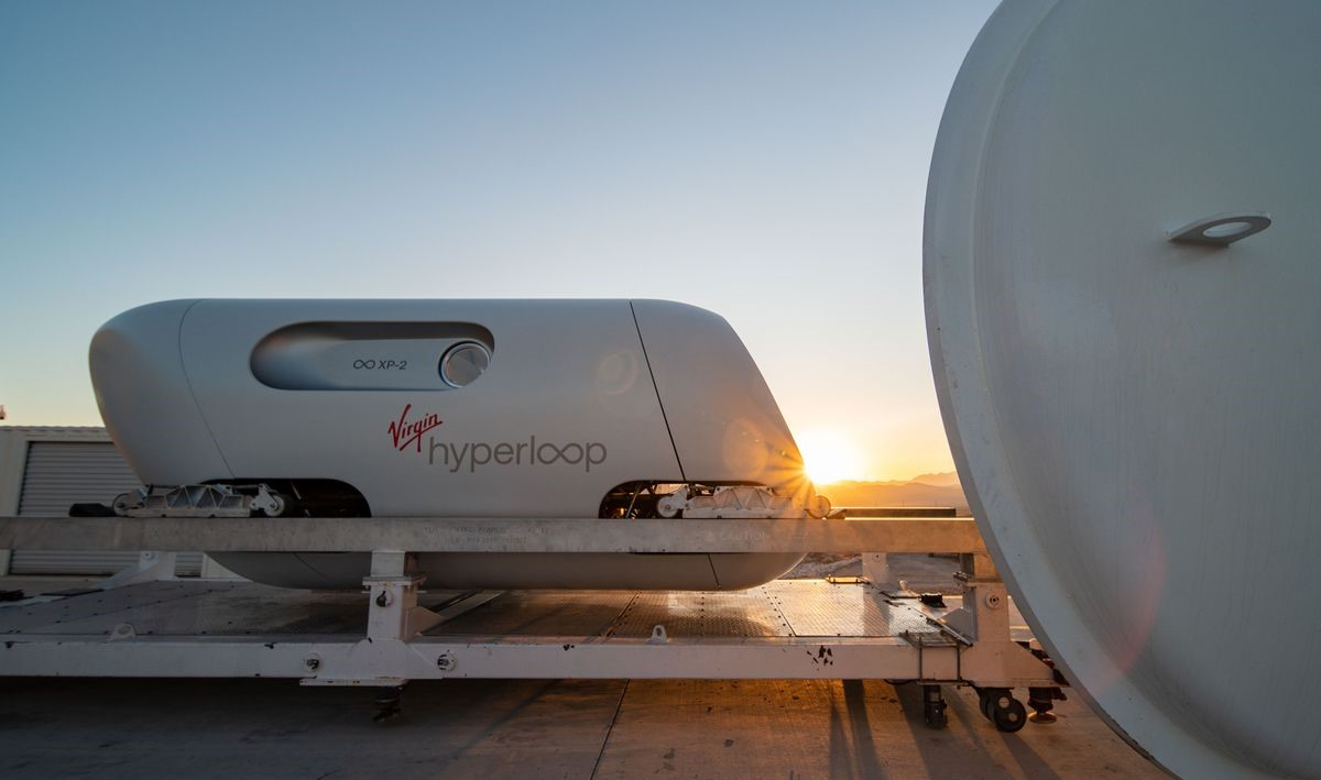 Virgin Hyperloop Capsule Sun