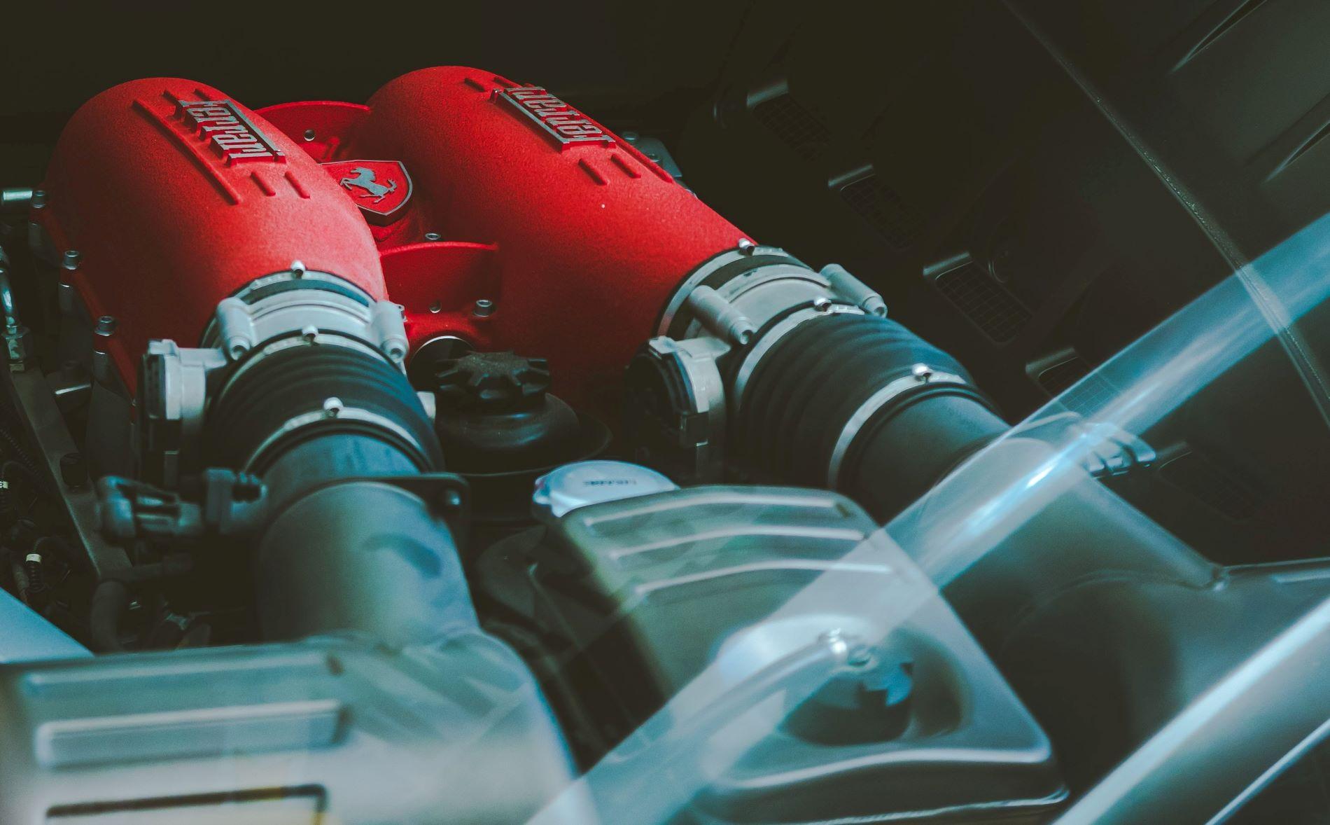 Ferrari Motor Close