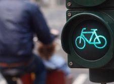 Traffic Light Bike Sign