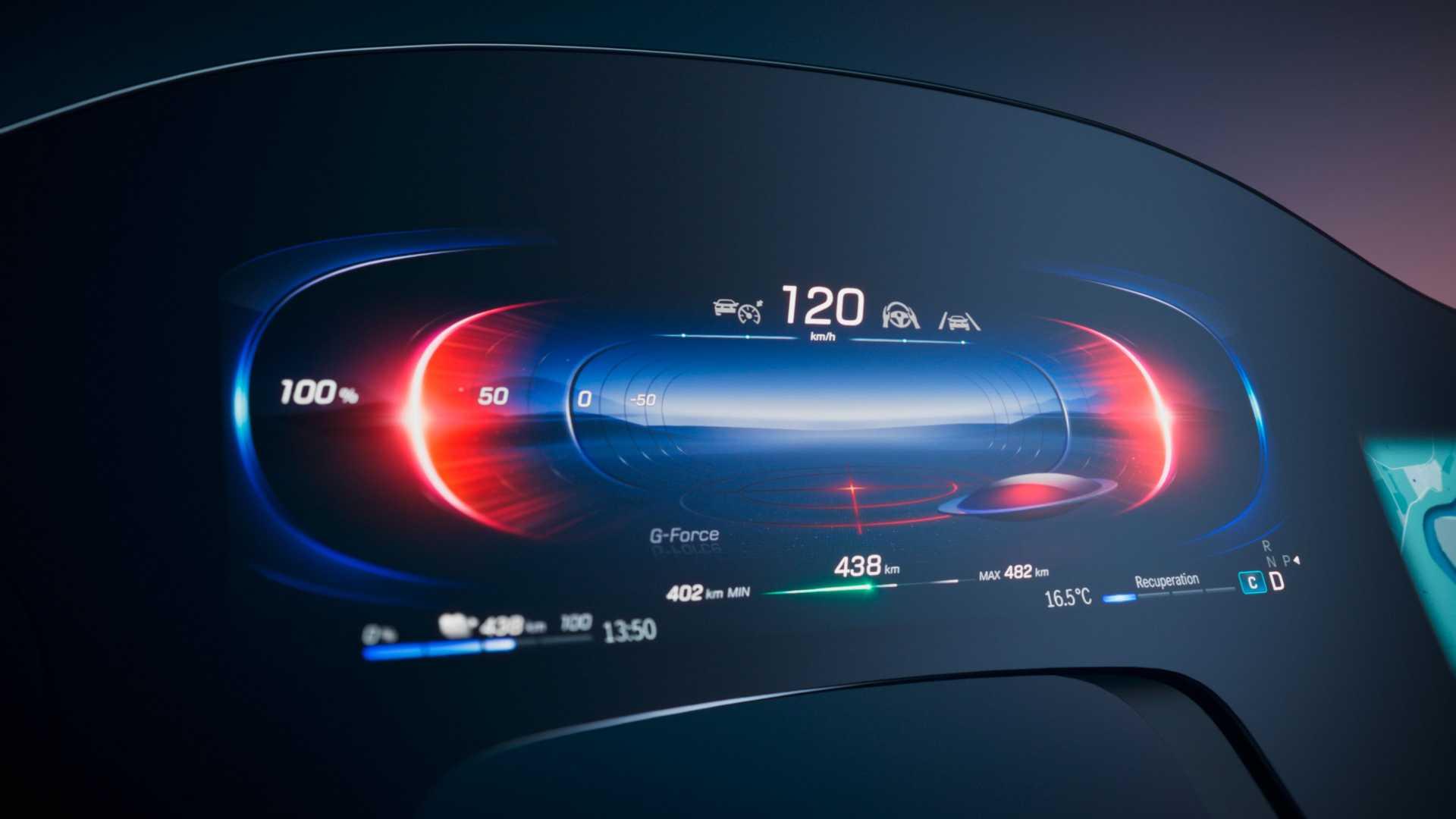 Mercedes Benz Mbux Hyperscreen EQS