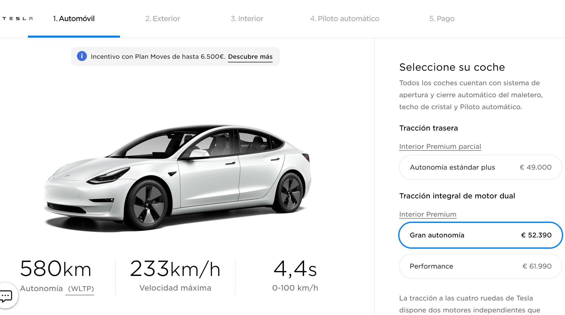 Tesla Model 3 Precio España Enero 2021