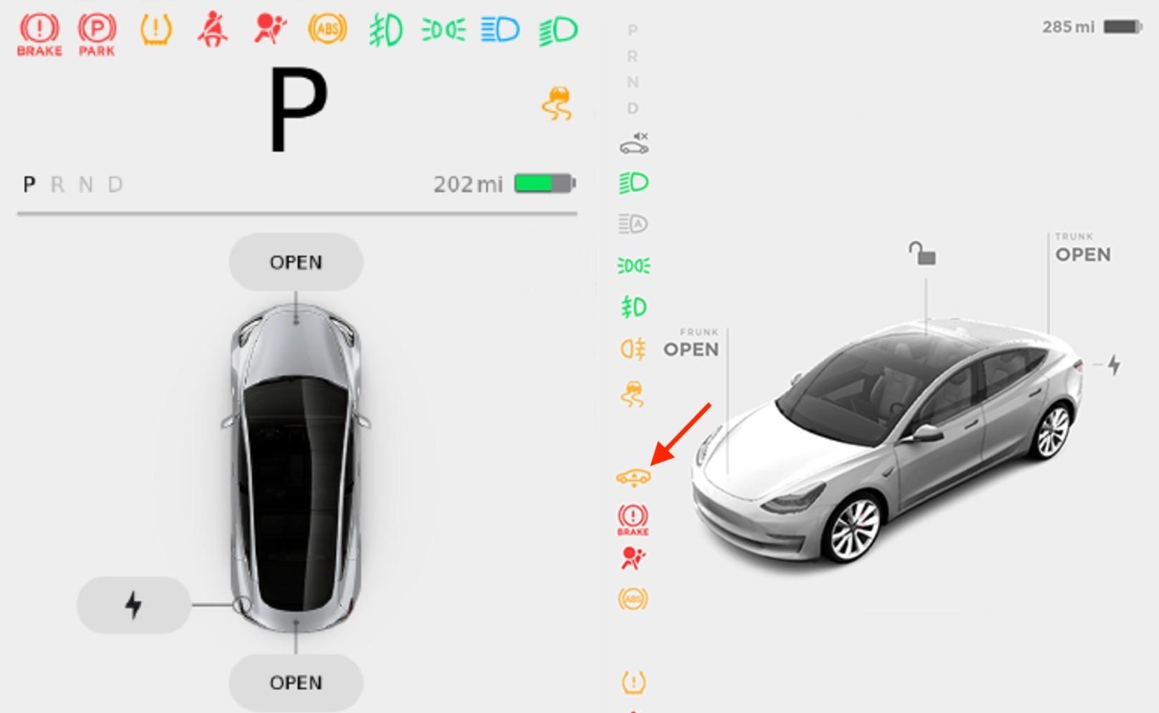 Tesla Model 3 Suspension Icon