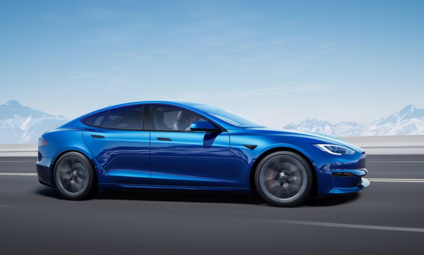 Tesla Model S Plaid Blue