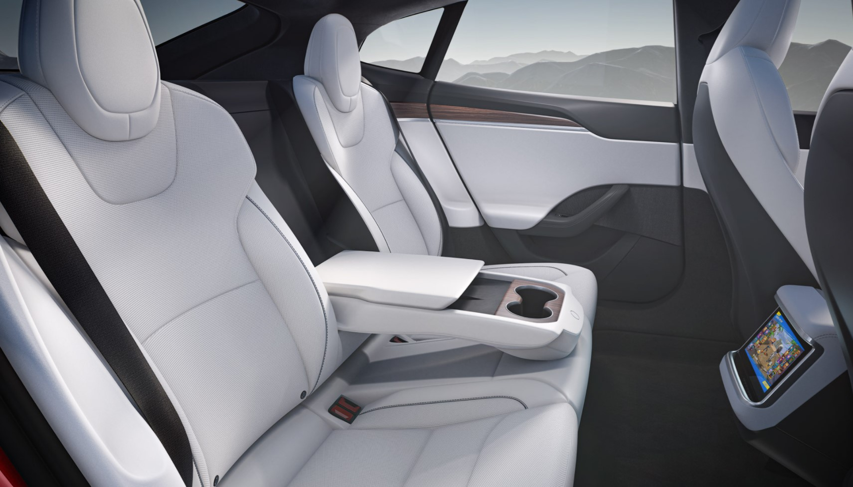 Tesla Model S New Interior Back
