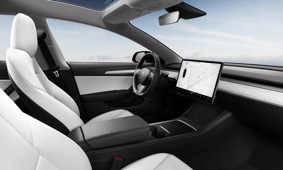 Tesla Modely Interior New