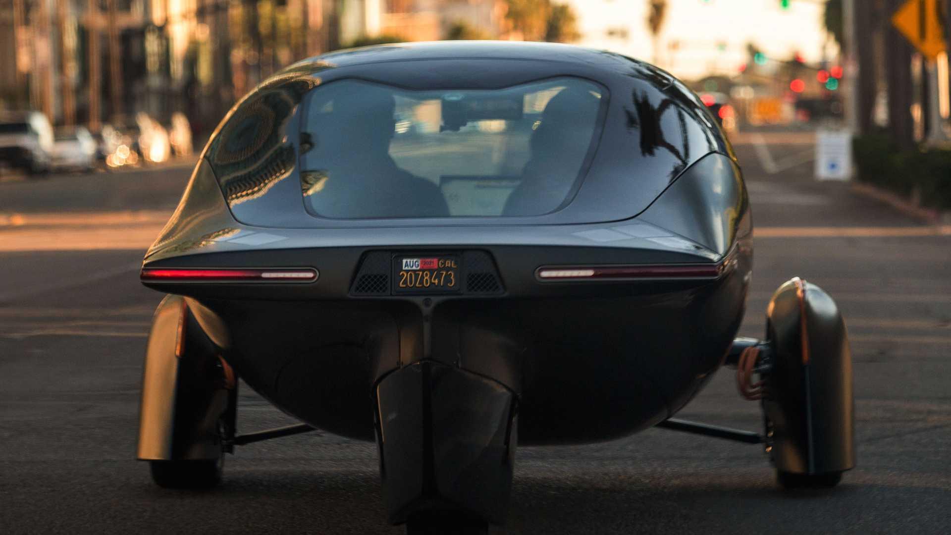 Aptera Three Wheels Electric Vehicle Back