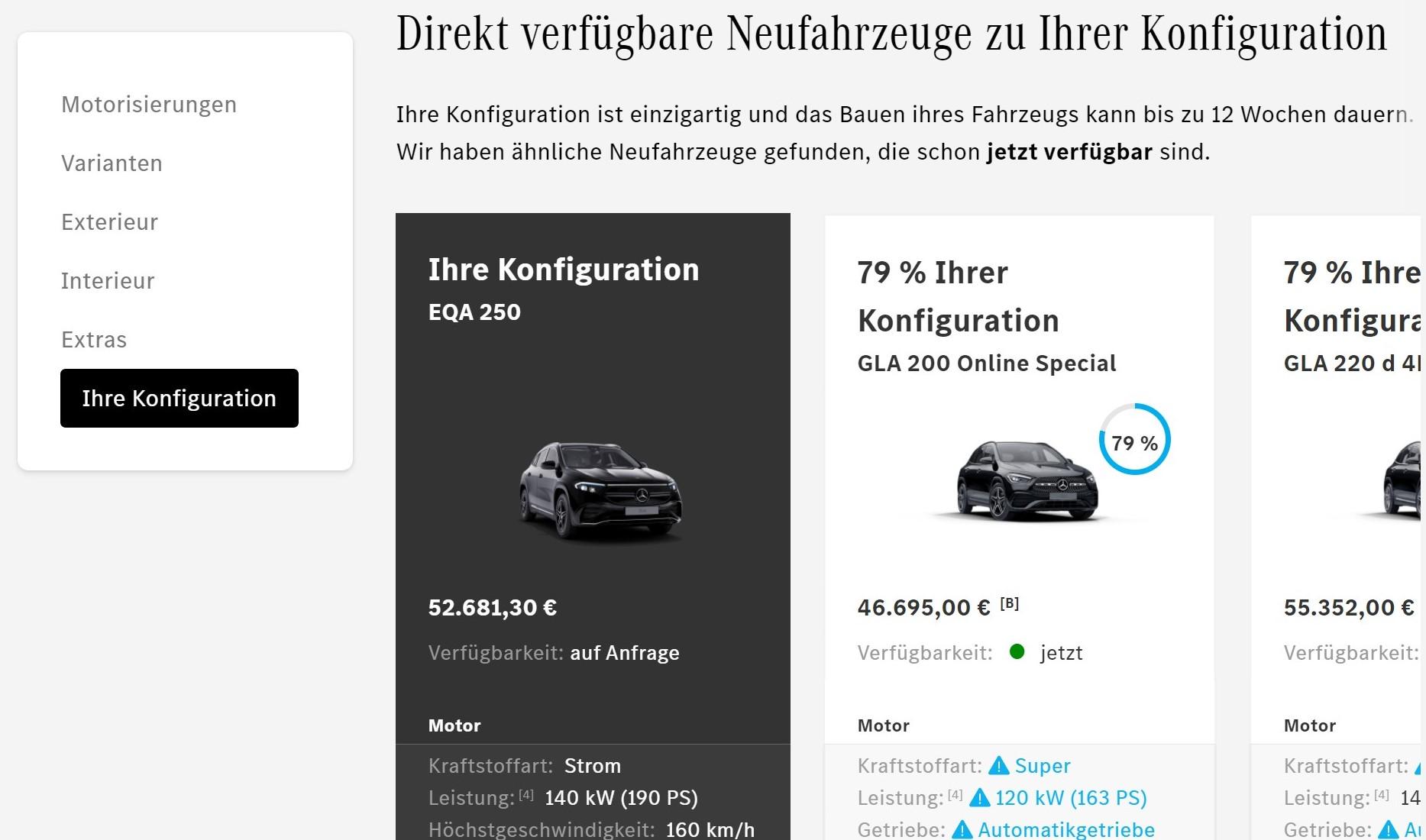 Mercedes Benz Eqa Configurator