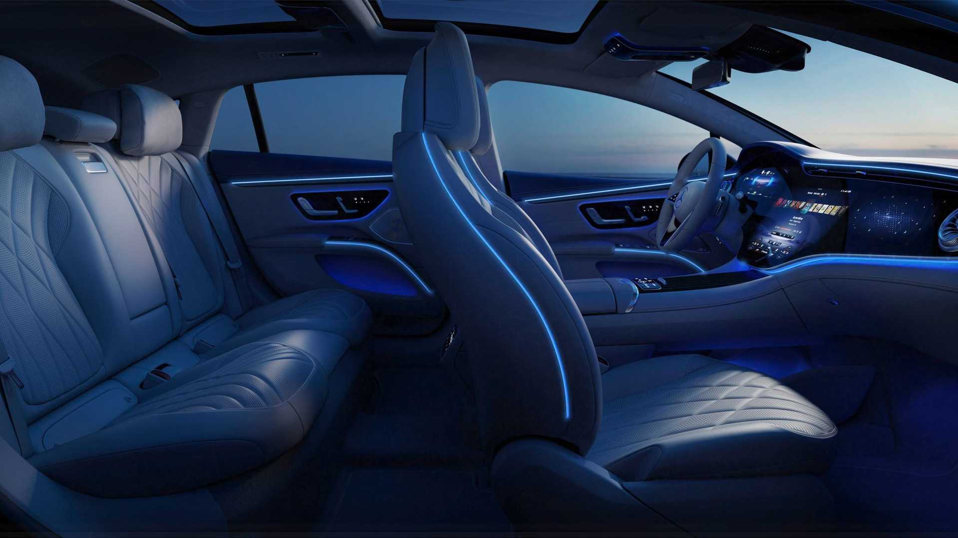 Mercedes Benz Eqs Awesome Interior Night