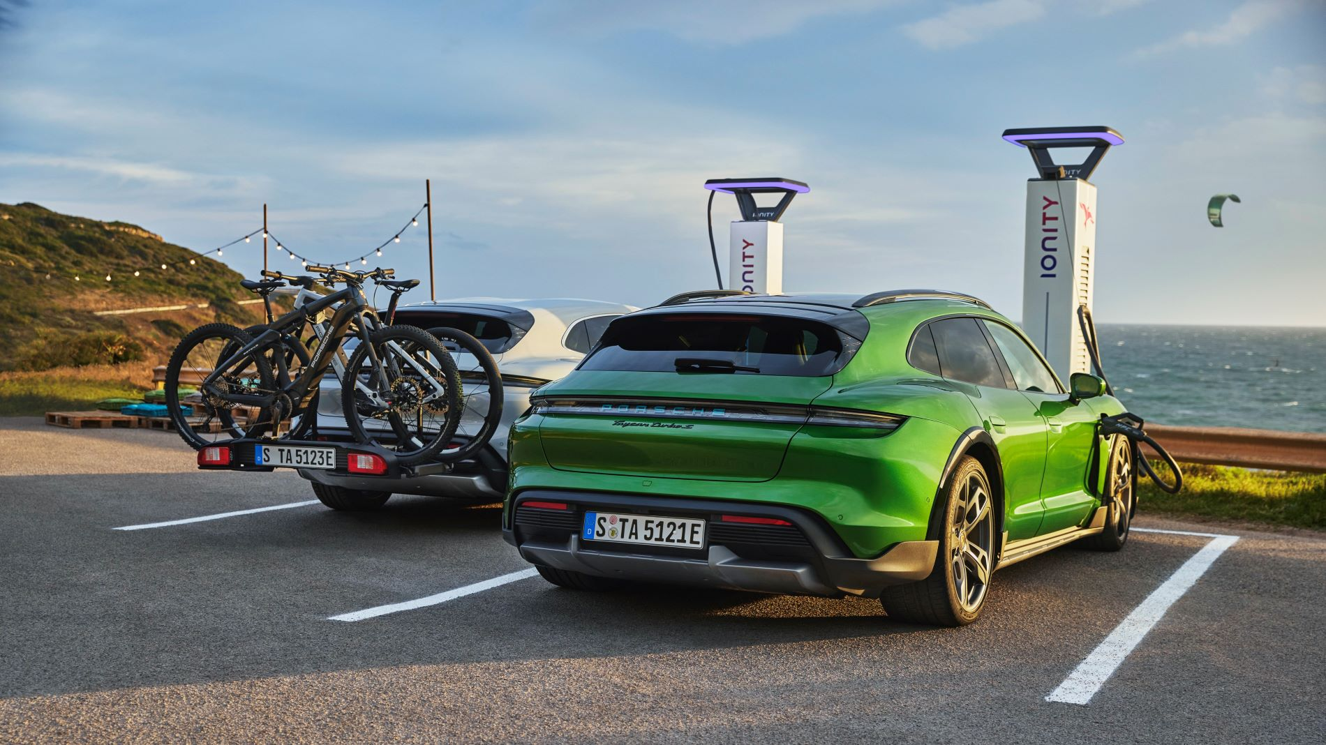 Porsche Taycan Cross Turismo Ebikes Ionity