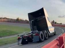 Tesla Semi White Fremont Tests Back