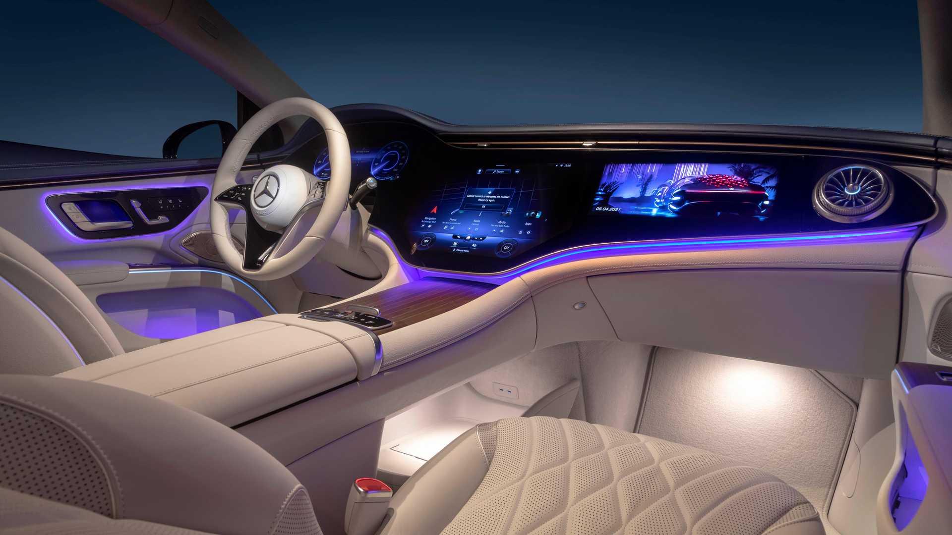 Mercedes Benz Eqs Gold Interior