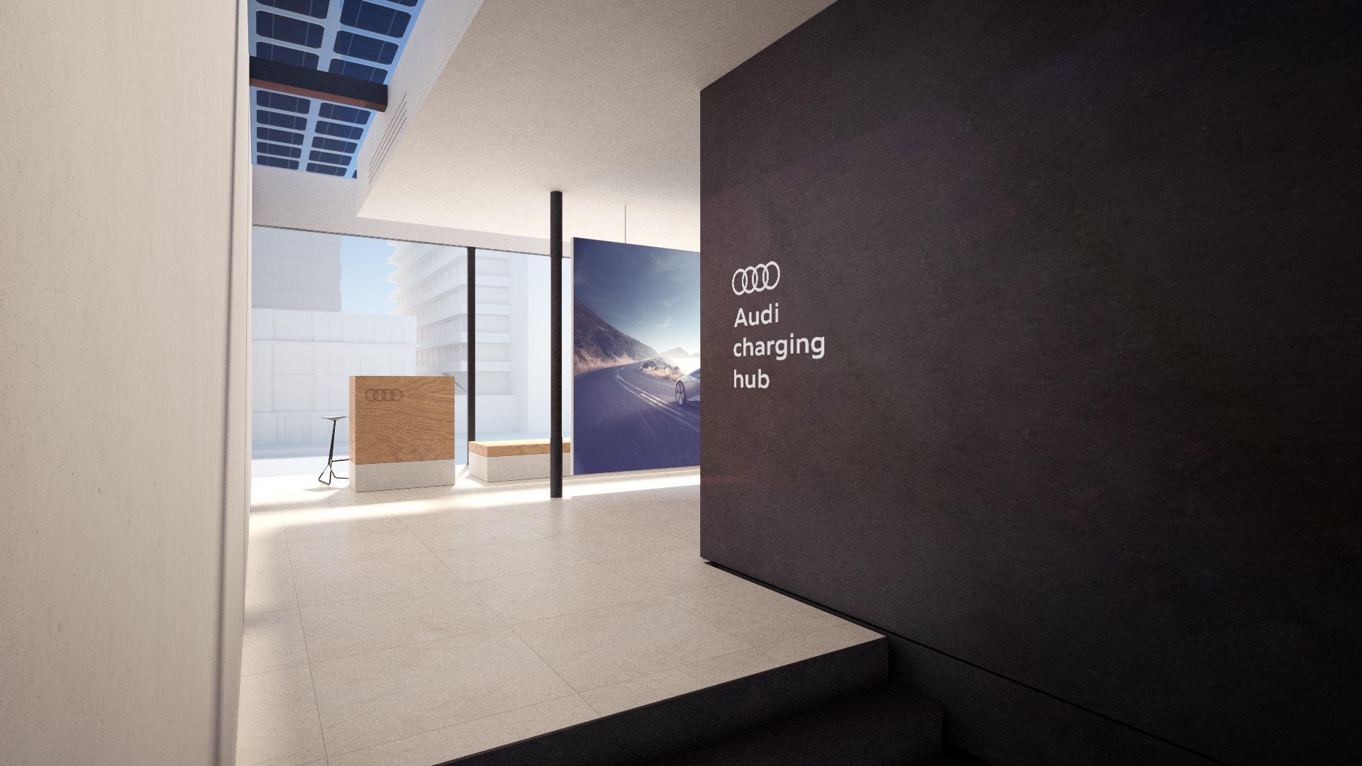 Audi Charging Hub Inside