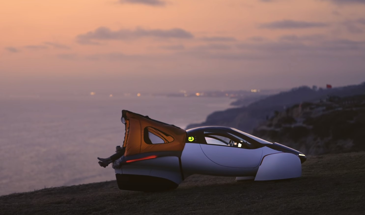Aptera Sol Sunset California