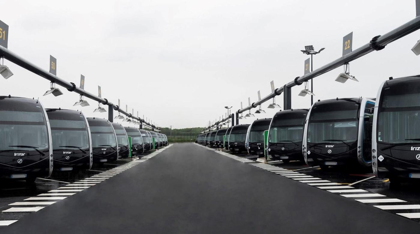 Irizar Ie Tram Parked