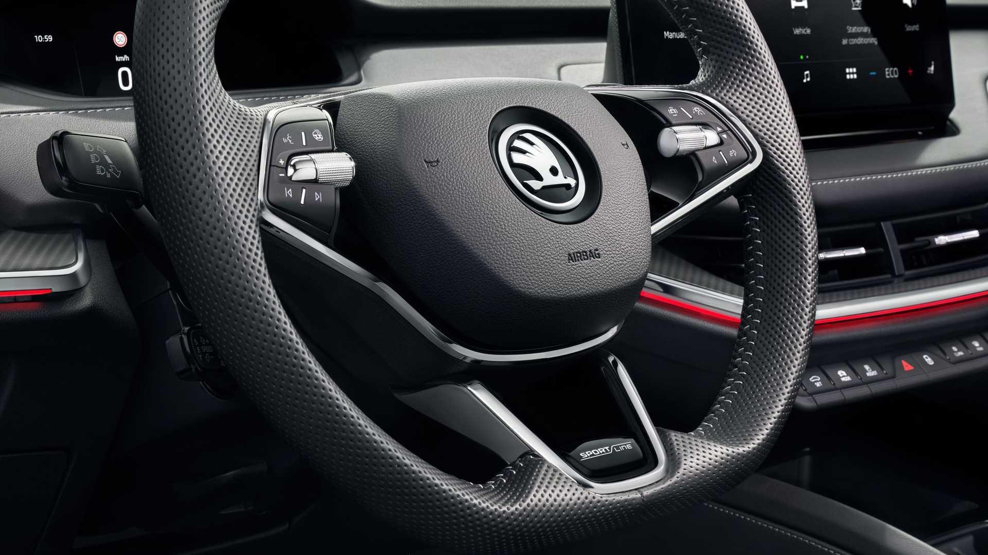 Skoda Enyaq Sportline Iv Steering Wheel