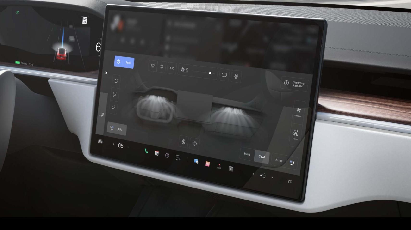 Tesla Model S Plaid Hvac