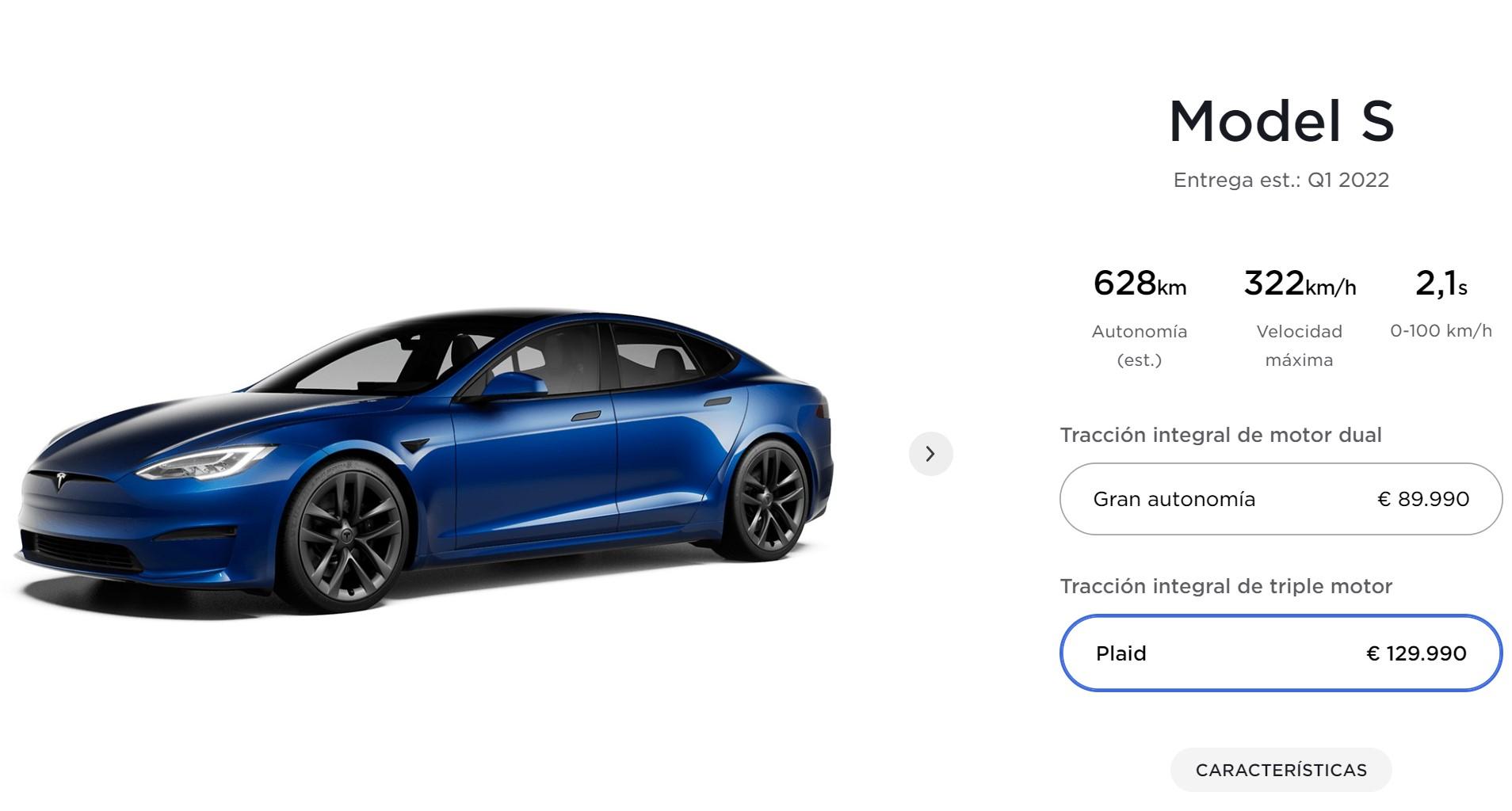 Tesla Model S Plaid Price