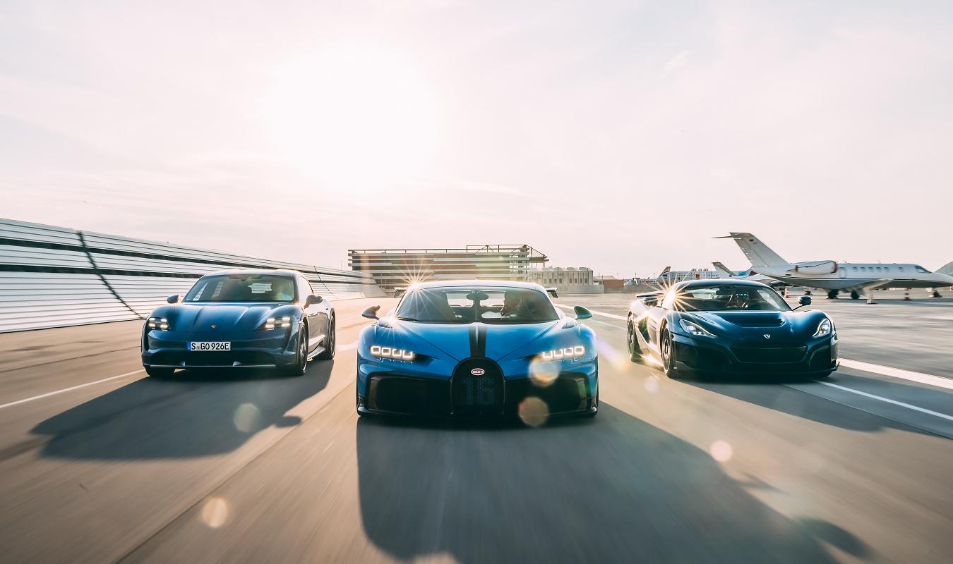 Rimac Bugatti Porsche Front