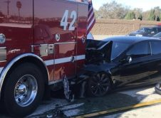 Tesla Autopilot Fire Truck