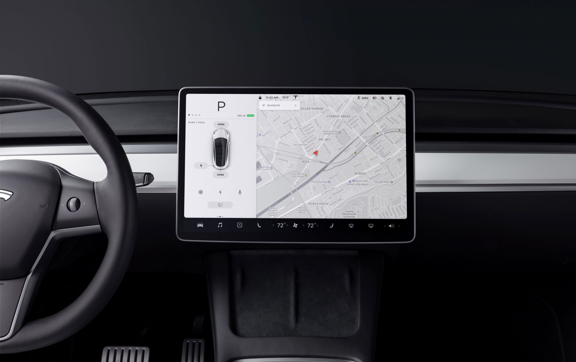 Tesla Modely Interior