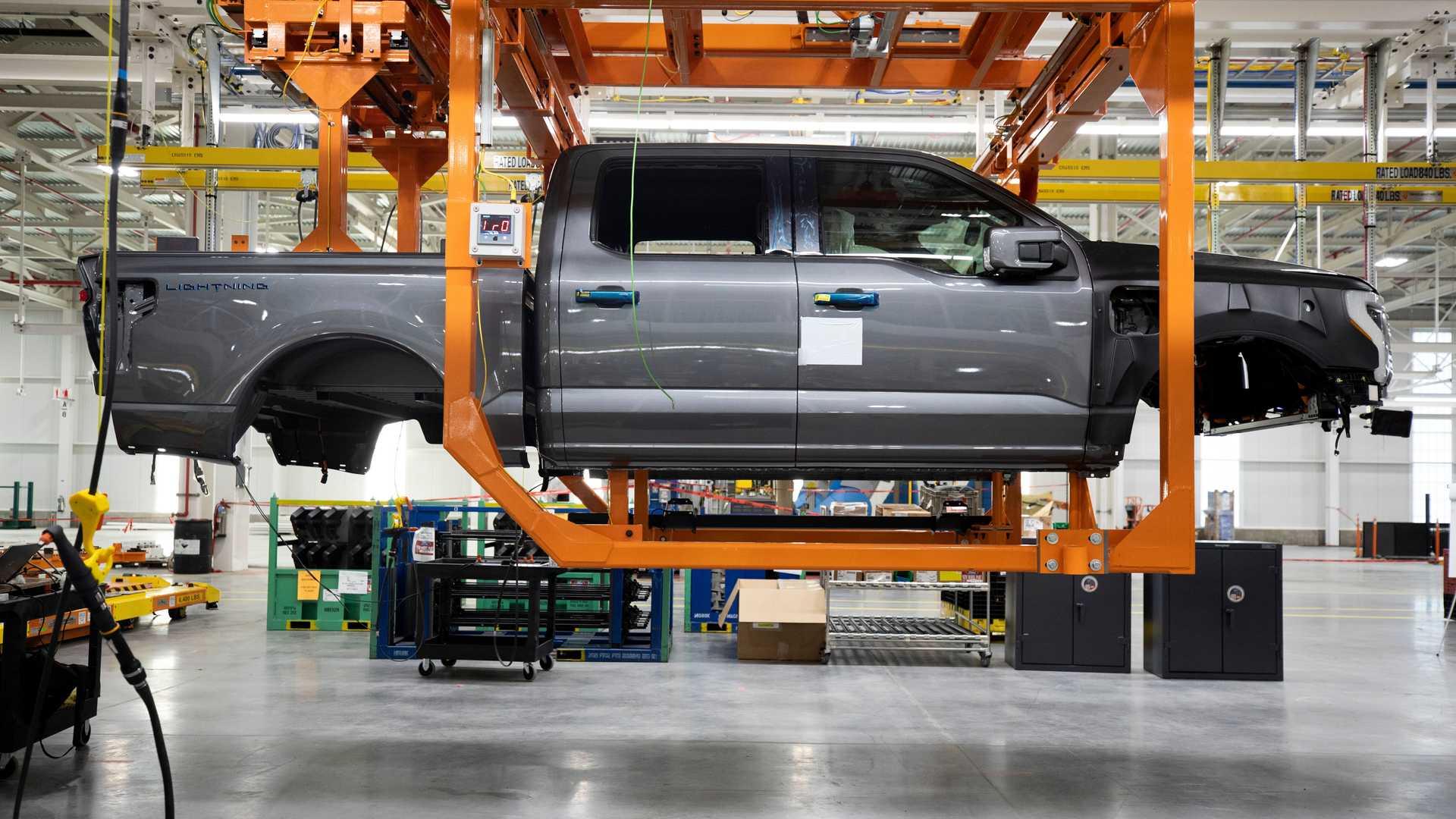 Ford F150 Lightning Production Side
