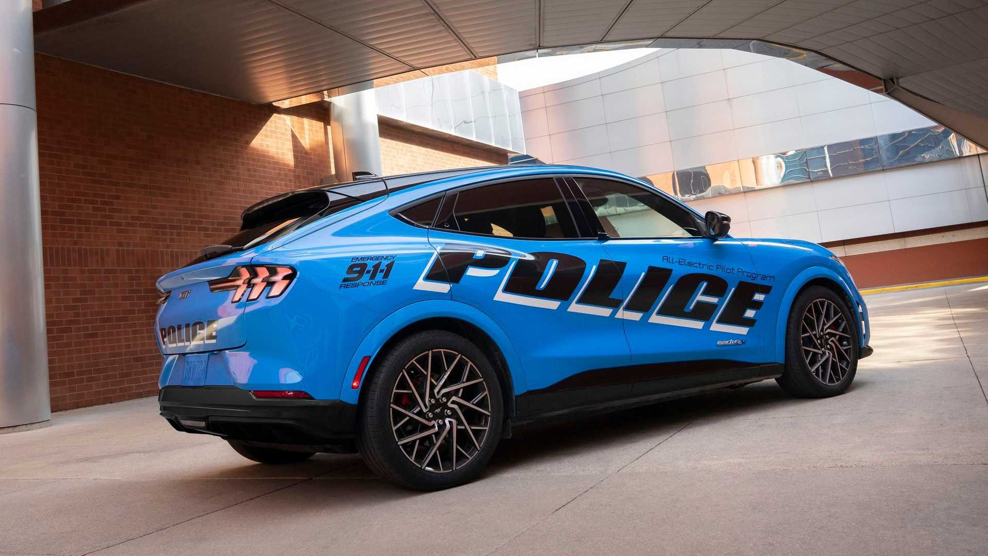 Ford Mustang Mache Police Back