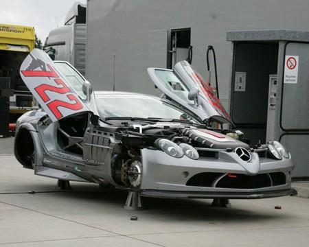 Espia Nurburgring Mercedes McLaren SLR 722 GT Sin Ruedas