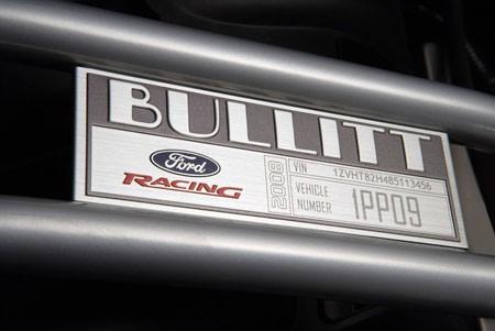 Ford Mustang Bullit Placa Unidad