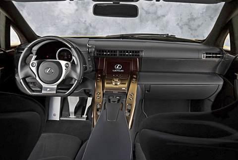 Lexus LF-A - Consola central