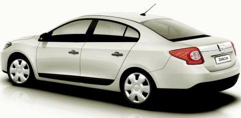 Representación del Dacia Logan del 2012