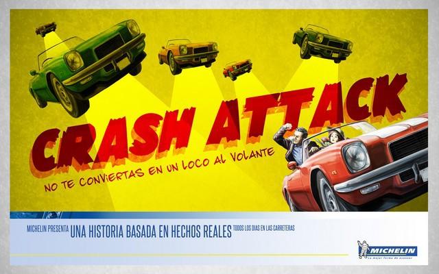 Crash attack, nueva campaña de seguridad de Michelin dirigida a los jóvenes